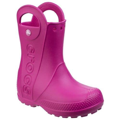 Crocs Handle It Rain Childrens Wellingtons Candy Pink